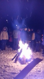 2018-12-31 Sylwester przy ognisku na Głodówce